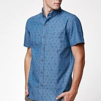 Globe Stafford Chambray Short Sleeve Button Up Shirt at PacSun.com