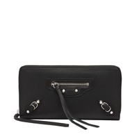 Balenciaga Papier Continental Zip Around Black - Women's Wallet