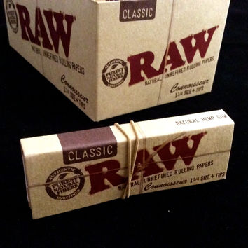 Raw - Organic Connoisseur 1 1/4'' Papers + Tips - 1 Book