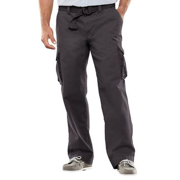 SONOMA life + style Relaxed-Fit Slubbed Cargo Pants