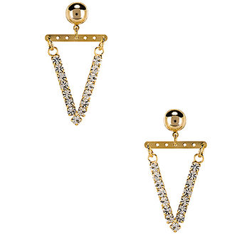 LARUICCI Pave Triangle Earrings in Gold | REVOLVE