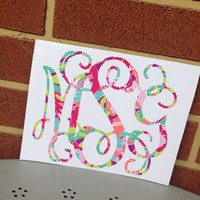 Lilly Pulitzer Monogram Decal Sticker