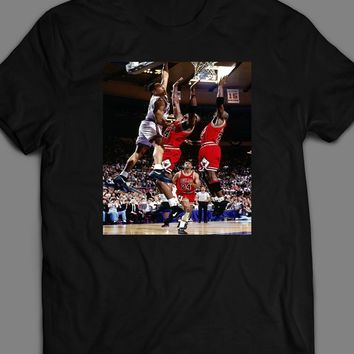 JOHN STARKS DUNKING ON JORDAN AND GRANT T-SHIRT