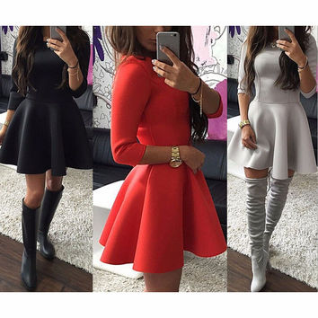 Tight Fashion Solid Color Dress