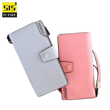 Candy Color Long Women Wallets Hasp Dollar Price Female Card Purses Travel Lady Clutch Fashion Money Clips Wristlet Coin Holder