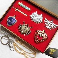Zelda Necklace Shield Collection