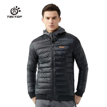 Tectop Winter White Duck Down Jackets For Men And Women Warm Outwear