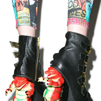 Irregular Choice Roarsum Booties Black