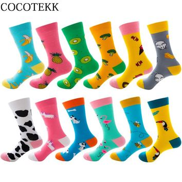 New Autumn Winter Combed Cotton Women Socks Cartoon Cute Funny Happy Kawaii Socks Women Unicorn Bee Flamingo Fashion Socks Gifts