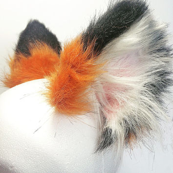 Red Fox Ears, Fox Ears, Wearable Clip In Ears