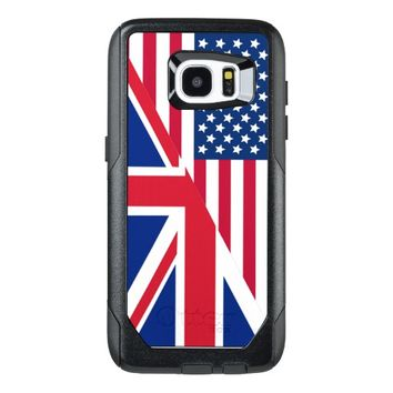 American and Union Jack Flag Galaxy S7 Edge Case