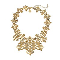 GS by gemma simone Vintage Filigree Collection Bib Necklace (Yellow)