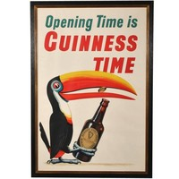 Rare Vintage Large-Scale Guinness Stout Poster, John Waddington Ltd. Printer