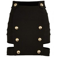 Anthony Vaccarello - Black Two Band Skirt I Just One Eye