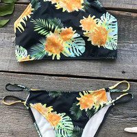 Cupshe Night Rainforest Tank Bikini Set