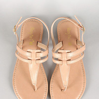 Sunny Feet Nude Leather Sandals