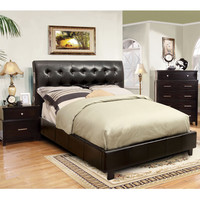 Furniture of America Perrington 2-piece Espresso Bluetooth Speaker Bed with Nightstand Set | Overstock.com Shopping - The Best Deals on Bedroom Sets