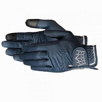 Pfiff Crystal Crown Riding Gloves