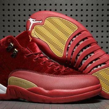 DCCKL8A Jacklish 2017 Air Jordan 12 Red Velvet Night Maroon For Sale