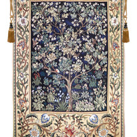 Tree of Life in Blue Tapestry Wall Art