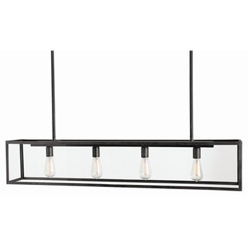 Arteriors Home Thornton 4L Bronze/Glass Pendant