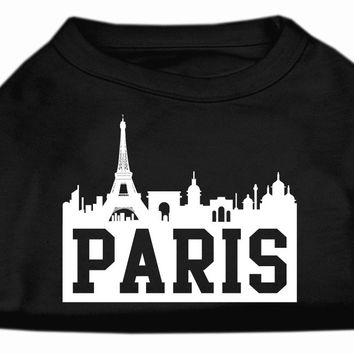 Paris Skyline Screen Print Shirt Black XL (16)