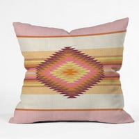 Bianca Green Fiesta Rose Throw Pillow