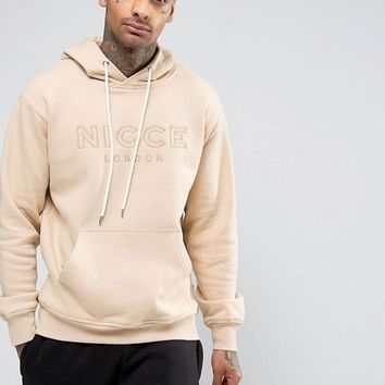 Nicce London Hoodie With Applique Logo at asos.com