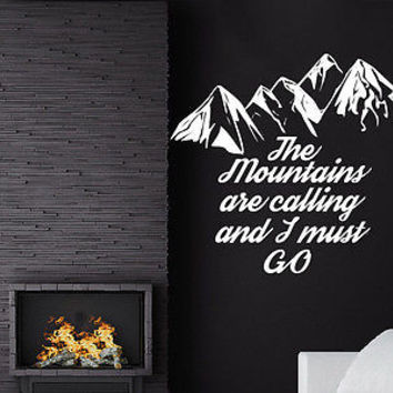 The Mountains Are Calling And I Must Go John Muir Wall Decal Quote Decor C564