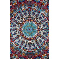 Handmade 100% Cotton Psychedelic Sunburst Glow Tapestry Tablecloth Spread 60x90