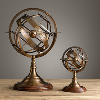 18th C. Brass Armillary