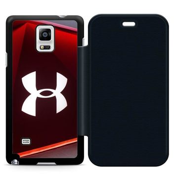 Under Armour Glass Leather Wallet Flip Case Samsung Galaxy Note 4
