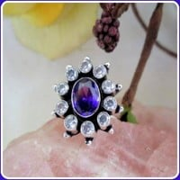 Ready For Success Amethyst & Topaz Ring