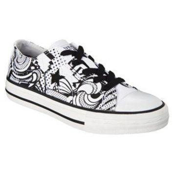 Kid's Converse? One Star? Retro Print - White