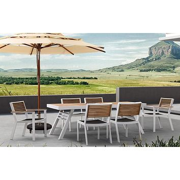 Outdoor Dining Set (6 chairs) | Higold York