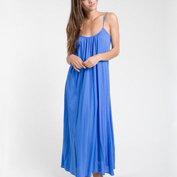 9seed Newport - Flag Blue Maxi Dress w/ Multi Ties