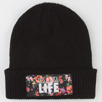 Yea.Nice Nice Life Beanie Black One Size For Men 22516410001