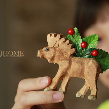 horse wooden brooch by handmade jewelry surprise gift 54