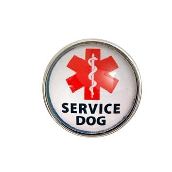 Service Dog Snap Charm 20mm for Snap Jewelry