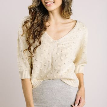Sabrina Cream Knitted Sweater