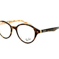Ray Ban RX5257 Eyeglasses-5057 Dark Havana/Beige-47mm