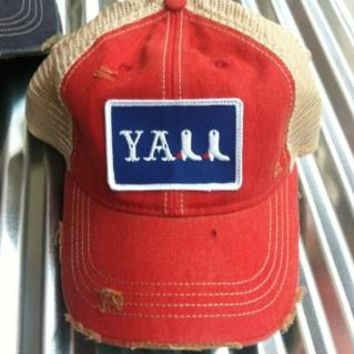 Judith March Y'all Trucker Hat - Red