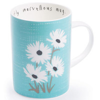 modestly marvellous mug, fig daisy old blue --- Lisa Stickley London