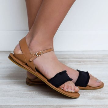 Vacation Time Sandals - Black