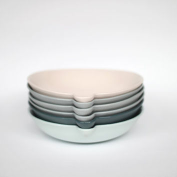 lip bowl  porcelain concrete colour by urbancartel on Etsy