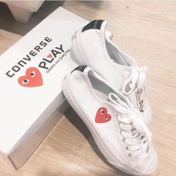 DCCKHD9 Converse Play Fashion Loving Heart Reflective Sneakers High Top With Low Top Sport Sho