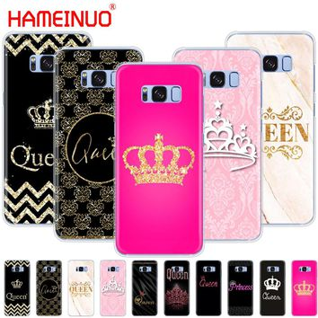 HAMEINUO Queen and king crown Coque cell phone case cover for Samsung Galaxy S9 S7 edge PLUS S8 S6 S5 S4 S3 MINI