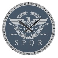 The Roman Empire Emblem Wall Clock. Large Clock