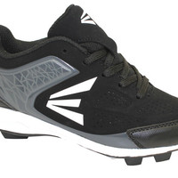Easton Youth 360 Rubber Baseball Cleat (10-6)- Black White-Baseball & Softball Cleats-Shoes-Boy's-MEN'S - Sport Chalet