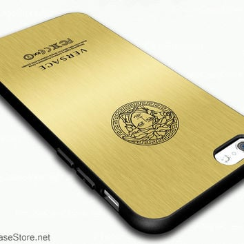 Golden Back Versace Assembled Phone By Brand Fashion Case Cover For iPhone 6 / iPhone 6 Plus